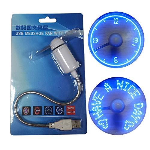 zmigrapddn Mini-Ventilator für den Sommer, tragbar, rund, mit LED-Licht