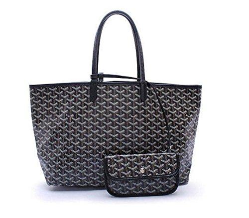rosvin-lady-shoulder-bag-2-piece-tote-bag-pu-leather-handbag-purse-bags-set-black