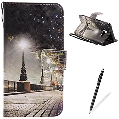 Samsung Galaxy A310/A3 2016 Case,Feeltech Elegant Premium Flip PU Leather Wallet Cover with Magnetic Closure Stand Function Protective [Free 2 in 1 Stylus] Credit Card Slots Holder and Money Pouch Vintage Retro Cartoon Pattern Design Flip Book Style Cover Case With Hand Strap for Samsung Galaxy A310/A3 2016 - London Street
