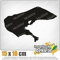 Sticker Pegatina Promotion  Insel Wangerooge mit Schriftzug ca 15cm Aufkleber freigestellt ohne Hintergrund aus Hochleistungsfolie f/ür Lack und Scheibe,Autoaufkleber