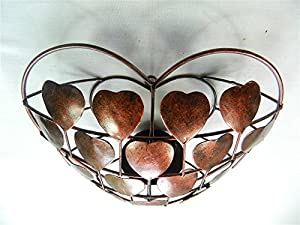 Thai Gifts Love-Heart Wall Art Tealight Holder/Sconce - Bronze from Thai-Gifts