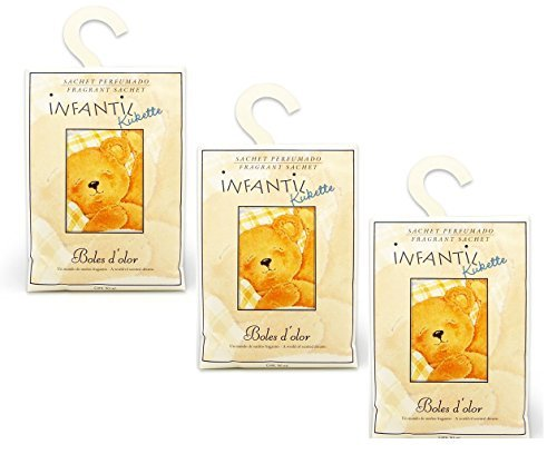 BOLES D'OLOR Pack of 3 Large Scented Sachet Teddy