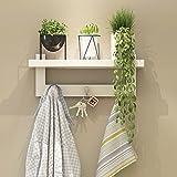 Wandregal hängend Kleiderbügelhülle Haubenhaken Türspeicher Wandspeicher Turm weiß ( Farbe : 48cm(3 hook) )