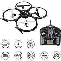 UDI U818A HD RC Quadcopter drone UFO con cámara 720p sin cabeza Modo de alta / baja velocidad 360 ° flip para Adultos, Niños por Time4Deals