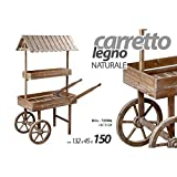 Carretto Anticato Shabby Portapiante Giardino Decorativo Espositivo Cm 150 H