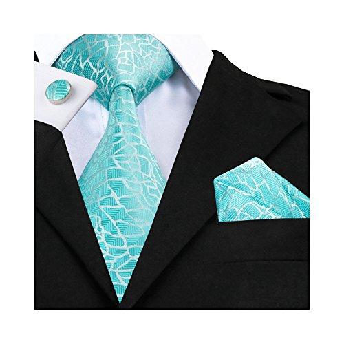 Barry. Wang, Krawatten-Set mit Einstecktuch und Manschettenknöpfen Gr. Einheitsgröße, hellblau