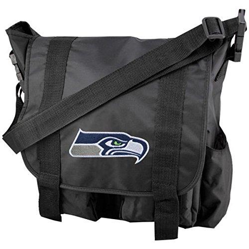 OneConcept Offiziell Lizenzierte NFL Pittsburgh Steelers Wickeltasche, 888783492355, Schwarz, 38 cm