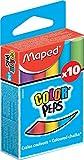Maped m593501–Craie Color Peps, Lot de 10, rond, assortis