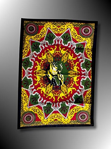 Bandiera bob-marley-Tappezzeria da parete-Giamaica Rasta-Reggae-Roots-Rastafari