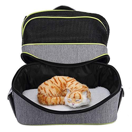 LJJYN Faltbarer Hunderucksack Gemütlich Atmungsaktiv Auto-Sicherheitspaket streicheln Dauerhaft Katze Reisetasche,B,38 * 33 * 20cm