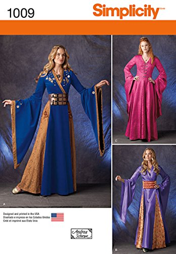 Simplicity 1009Größe R5Schnittmuster Fantasy Kostüme Schnittmuster, - Herren Kostüm Mittelalterliche Muster