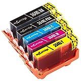 Mycartridge 5 Pack Kompatibel HP 364XL 364 XL Druckerpatronen für HP Photosmart 5510 5520 5522 5524 6520 7510 7520 C5380 HP Deskjet 3070A 3520 (Schwarz/Fotoschwarz/Cyan/Magenta/Gelb)