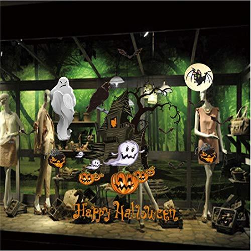 Mitlfuny Halloween Statische ElektrizitäT Wand Aufkleber Party Dekoration DIY Home Deko Wandaufkleber 3D FüR WäNde, Fenster, SchräNke, TüRen Etc auf Bogen Wandaufkleber (C)