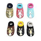 6 Paar Baby Socken , Kuschelsocken , Dicke Warme babysocken mit Antirutsch-Noppen (12-24 Monate)