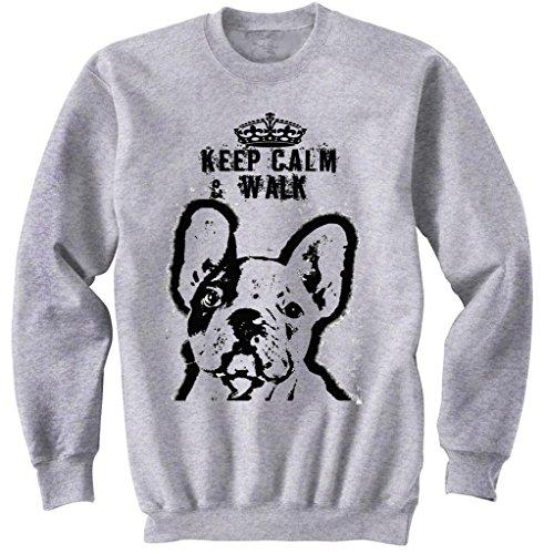 Teesquare1st Men's GERMAN SHEPHERD BEST FRIEND PB Grey Sweatshirt Size Medium