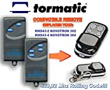 TORMATIC MHS43-2 NOVOTRON 302, MHS43-4 NOVOTRON 304 Kompatibel Handsender, 433.92Mhz rolling code keyfob