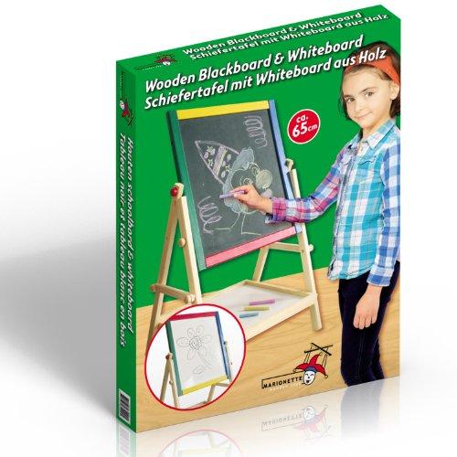 Lavagna per bambini 2 in 1 reversibile lavagna per dipingere lavagna magnetica in legno compresi accessori
