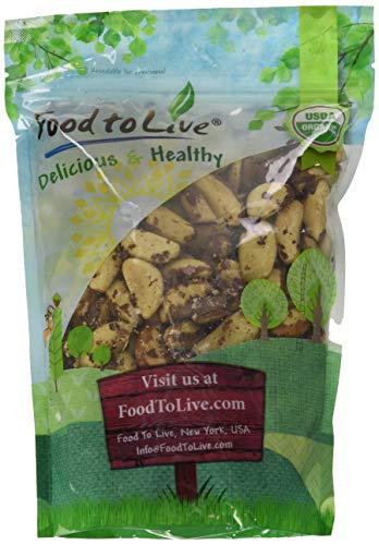 Bio Paranüsse, 2 Pfund - ohne Schale, GVO-frei, koscher, roh, vegan, Bulkware