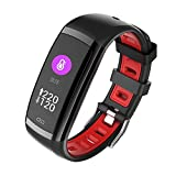 Belingeya Fitness Tracker, Activity Tracker Herzfrequenz Monitor Wasserdicht IP67Smart Armband