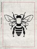 Bienen Schablone - große detaillierte Honigbiene - Wanddeko Biene - Zeichenschablone - Wandschablonen - Mylar Schablonen - Wiederverwendbar - DIN A2, DIN A3 oder DIN A4