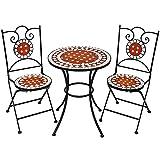 TecTake Set arredo giardino mosaico tavolo e sedie in ferro con terracotta ceramica - TecTake - amazon.it