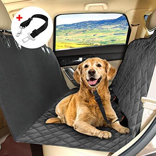KYG Coprisedile per Cani Gatti Impermeabile Tappetino Universale per Sedile Posteriore Copertura Bagagliaio Antiscivolo Telo Protezione Auto Amaca per Animali Domestici Regolabile Nero