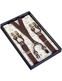 KANGDAI Unisex Braces Skinny Braces 6 Clips recortados 25 mm Y-Back Elásticos Durable Suspenders Ajustable Strong Metal Clips para hombres y mujeres