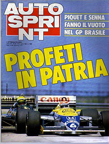 Autosprint n. 13 del Marzo 1986 Piquet, Senna, Alfa 75 Turbo, Stuck
