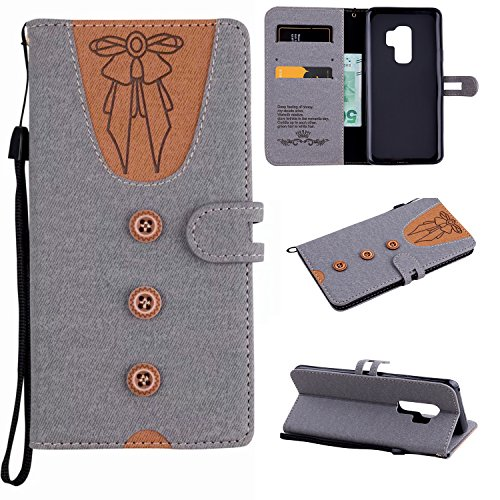 Preisvergleich Produktbild Galaxy S9 Plus Hülle,  Leder Tasche Handyhülle Flip Wallet Schutzhülle für Samsung Samsung Galaxy S9 Plus mit Ständer und Kartenfächer / Magnetverschluss Z1 (5)