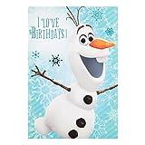 Hallmark, biglietto di compleanno con Olaf di Frozen e la scritta'I Love Birthdays', medio