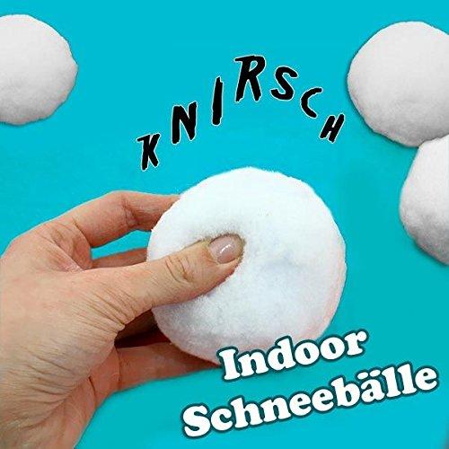Schneebälle für Indoor, 4er Pck, 8cm, knirschen wie Schnee