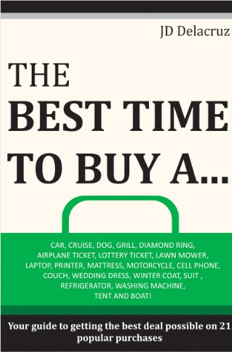 The Best Time to Buy A...: Car, Cruise, Dog, Grill, Diamond Ring, Airplane Ticket, Lottery Ticket, Lawn Mower, Laptop, Printer, Mattress, Motorcycle, Cell ... Wedding Dress and More! (English Edition) (Ticket-notebook)