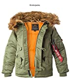 Alpha Industries N3-B VF Kids (L, Grün)