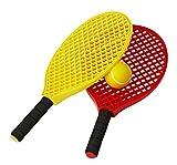 Tremblay Lot mini raquette de tennis + balle en mousse jeux de plage