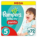 Pampers - Baby Dry Pants - Couches-culottes Taille 5 (12-18 kg) - Mega Pack (x72 culottes)