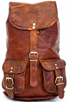 Gusti Leder M31 - Mochila estilo vintage (cuero), color marrón