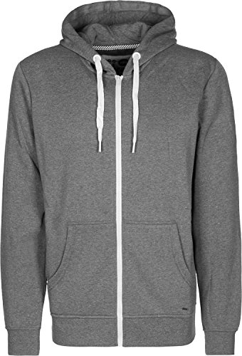 Solid-Herren-Sweatjacke-SWEAT-PEACON-Sweatshirt-Sweater-Kapuzenjacke-grau