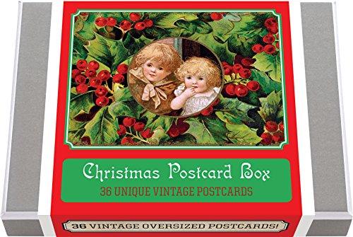 Christmas Postcard Box - 36 Unique Vintage Postcards (Postcard Books-Postcard Books)