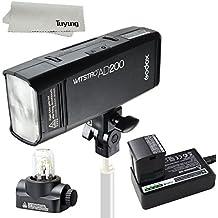 Godox AD200 200Ws GN 60 flash de sincronización de alta velocidad de flash incorporado 2.4G sistema inalámbrico X para lograr la batería TTL 2900mAh para proporcionar 500 flashes de plena potencia Reciclar en 0.01-2.1 segundo