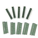 5Pcs 10 polig Printklemme Leiterplatte Leiterplatten Anschlussklemmen