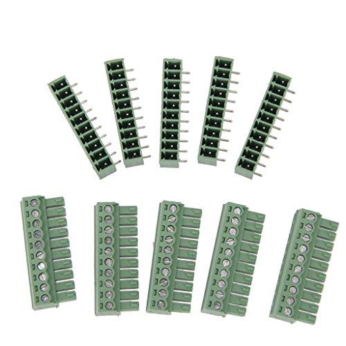 Preisvergleich Produktbild 5Pcs 10 polig Printklemme Leiterplatte Leiterplatten Anschlussklemmen