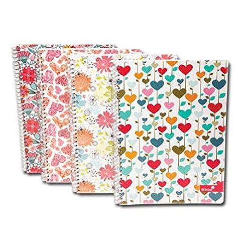 Marlene West A4 Notizbücher mit Ringbindung, verschiedene Farben und gratis