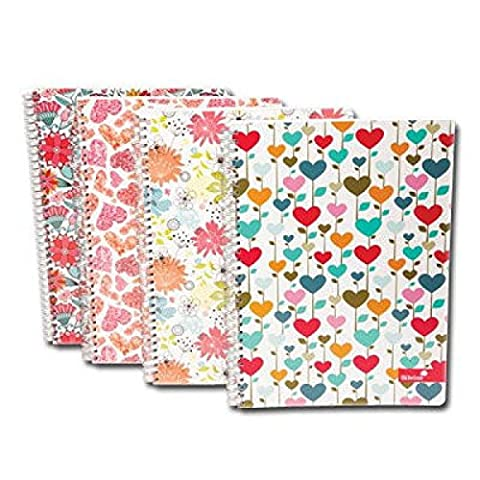 A4double fil Marlene West Notebook couleurs assorties & cadeau gratuit