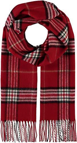 GIORGIO RIMALDI Schal kariert für Damen & Herren - Made in Germany - warmer Schal mit Karomuster - karierter Winter-Schal - hochwertiger Web-Schal, Classic Red, Einheitsgröße