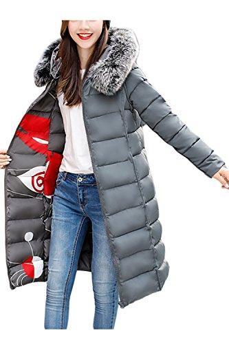 Les Femmes Et La Taille D'hiver De Fausse Fourrure À Double Porte Des Vêtements Doublés De Midi Parkas, Manteaux 2