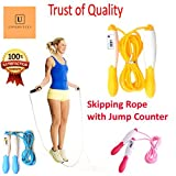 #4: Tough and Durable Counting Skipping Rope with Counter Adjustable Counter Professional Skipper