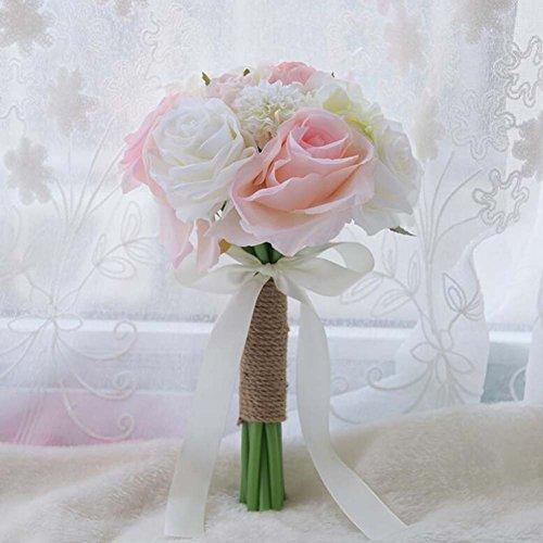 Künstliche Blumen Seidenblumen Brautjungfer Hochzeit Brautstrauß Brautjungfern Kleine Blumensträuße ( Color : Rosa )