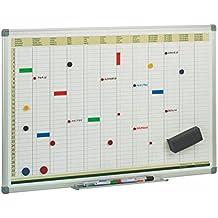 Faibo PLA - Pizarra de planificación anual, 60 x 90 cm