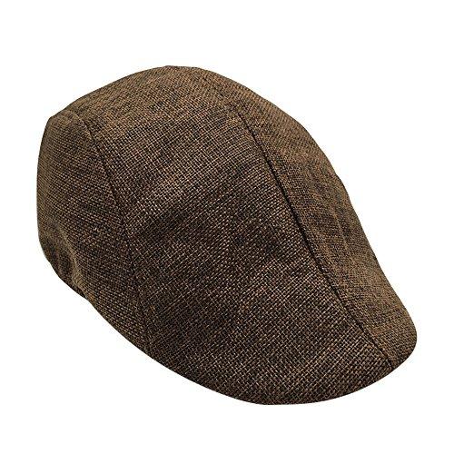 Knowin Kappe Mode Männer Sommer Visier Hut Sonnenhut Mesh Laufen Sport Lässige Atmungsaktive Barett Flache Kappe OneSize Cap - Basecap aus 100% Baumwolle