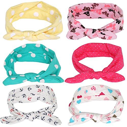Trixes 6 niedliche Baby Mädchen und Kleinkind Stirnbänder mit einzigartigen Designs